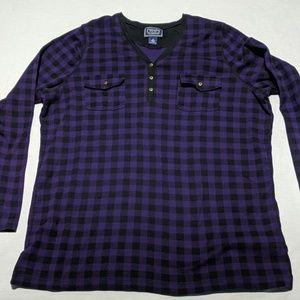 Women's Chaps Classics Pocket Henley LS T Shirt